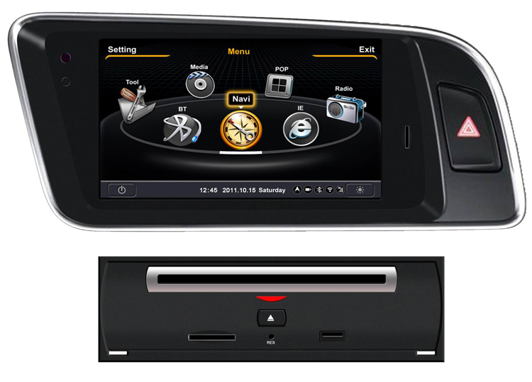 doppio 2 din audi q5 autoradio navigatore gps lettore dvd supporta vivavoce bluetooth ipod rds. Black Bedroom Furniture Sets. Home Design Ideas