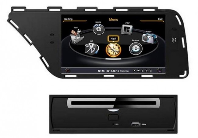 doppio 2 din audi a4 autoradio navigatore gps lettore dvd supporta vivavoce bluetooth ipod rds. Black Bedroom Furniture Sets. Home Design Ideas