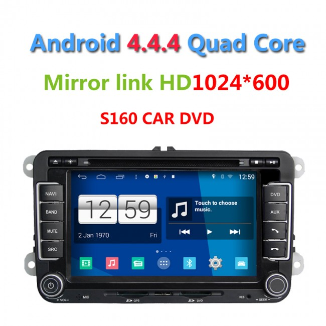 vw golf 6 android 4 4 4 s160 autoradio lettore dvd s160 autoradio 2 din car dvd navigatore gps. Black Bedroom Furniture Sets. Home Design Ideas