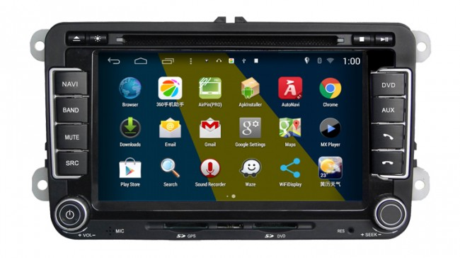 vw touran android 4 4 4 s160 autoradio lettore dvd s160 autoradio 2 din car dvd navigatore gps. Black Bedroom Furniture Sets. Home Design Ideas