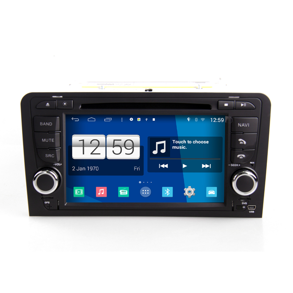 audi a3 android 4 4 4 s160 autoradio lettore dvd. Black Bedroom Furniture Sets. Home Design Ideas